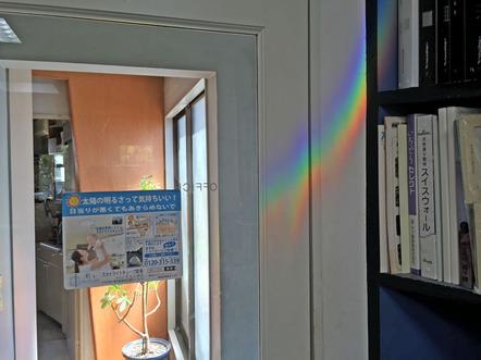 室内でも虹を楽しむ